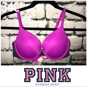 Pink bra 34C